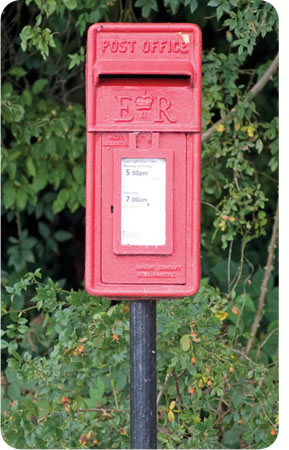 Scalford Court Care Home - Post box at the end of the drive